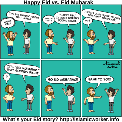 Happy Eid vs. Eid Mubarak
